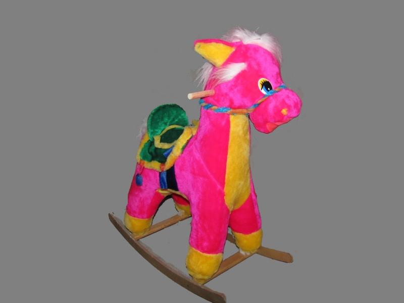 качалка конь с попоной