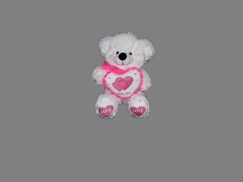 Медведь с сердцем 40см