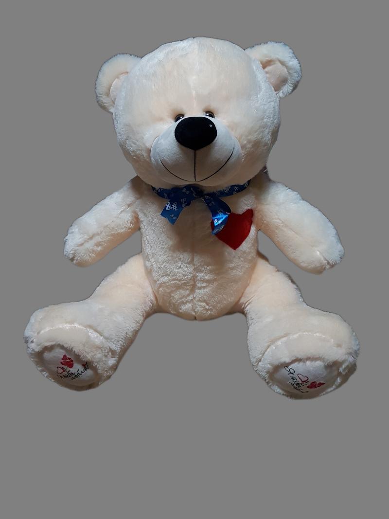 Медведь с сердцем на груди большой 100см